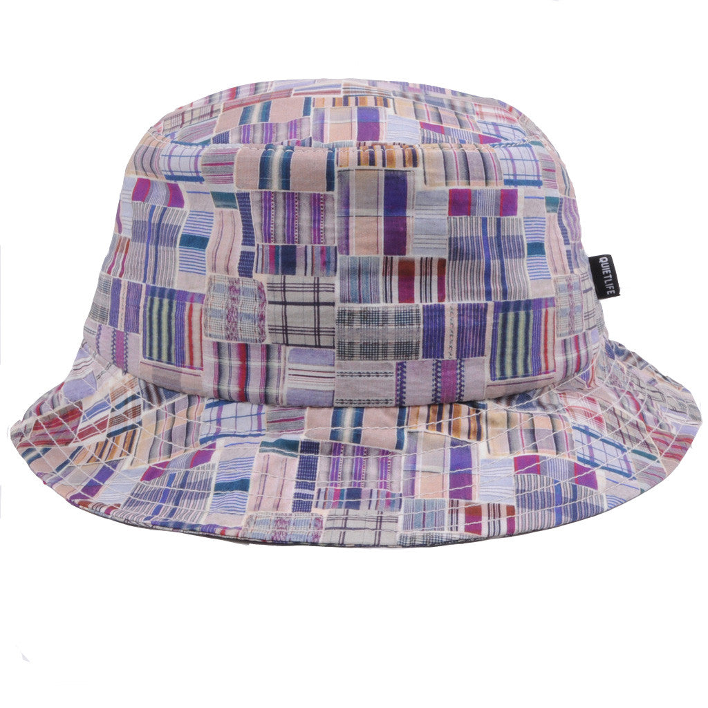 The Quiet Life - Liberty Madras Bucket Hat, Burgundy - The Giant Peach - 1