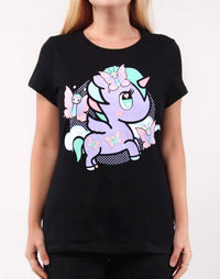 tokidoki - Lily Women's Tee, Black - The Giant Peach