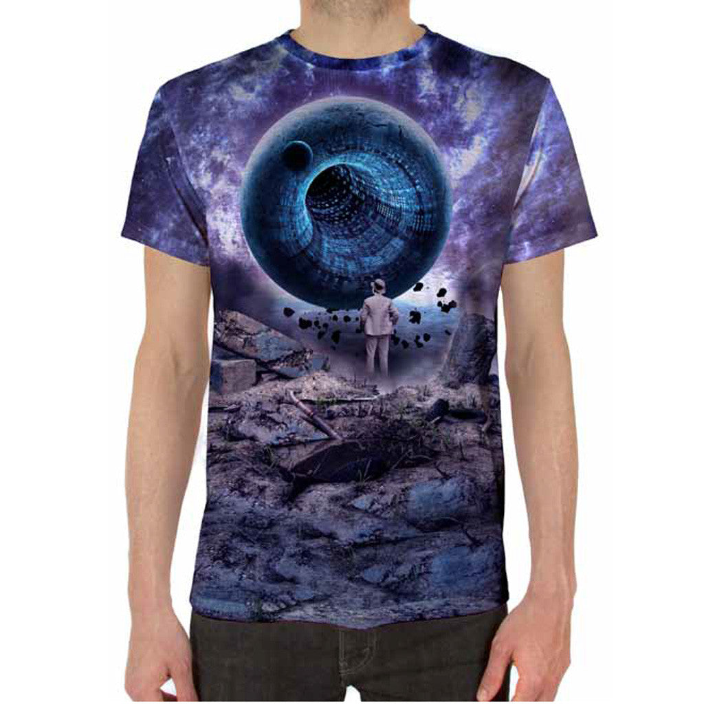 Imaginary Foundation - Liminal Sublimation Men's Tee - The Giant Peach - 1