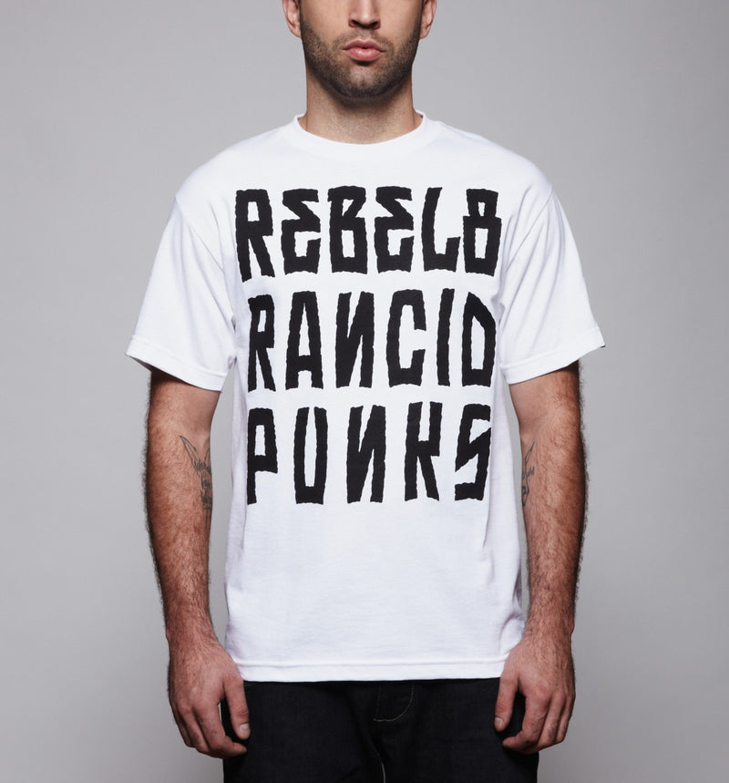 REBEL8 x Rancid - Listed MIA Men's Tee, White - The Giant Peach