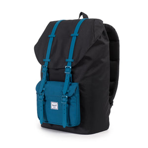Herschel Supply Co. - Little America Backpack, Black/Ink Blue Rubber - The Giant Peach