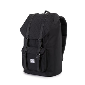Herschel Supply Co. - Little America Backpack, Black Quilted - The Giant Peach