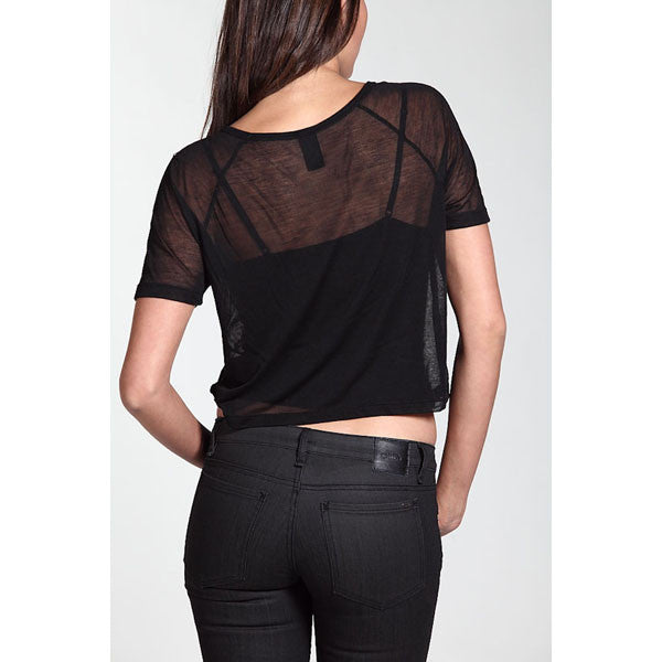 OBEY - OG Snake Skin Sheer Women's Top, Black - The Giant Peach
