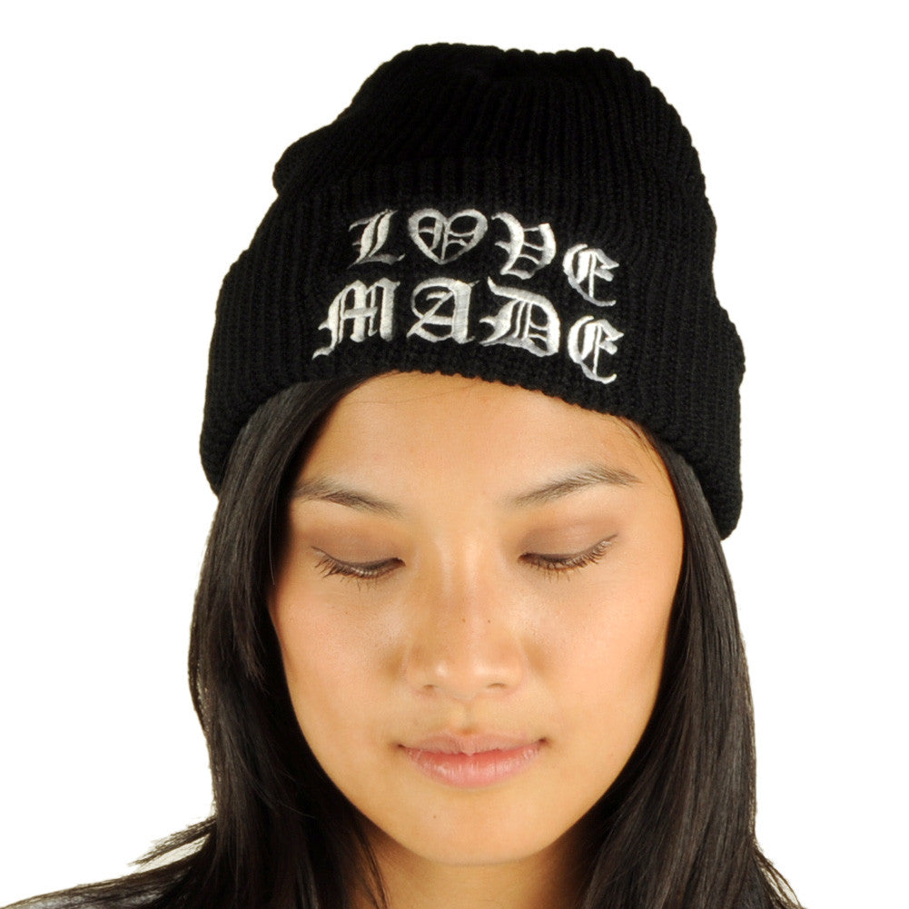 Lovemade - Thug Made Beanie, Black - The Giant Peach