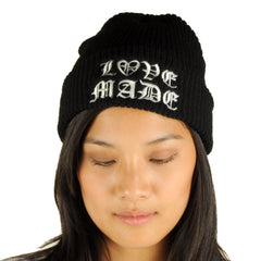 Lovemade - Thug Made Beanie, Black - The Giant Peach - 1