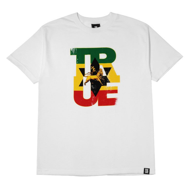 TRUE - Logo Lion Men's Shirt, White - The Giant Peach