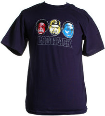 Lootpack - Logo Shirt, Navy Blue - The Giant Peach