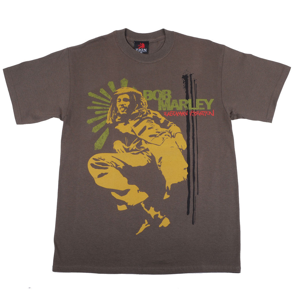 Bob Marley - Lounge Men's Shirt, Olive - The Giant Peach