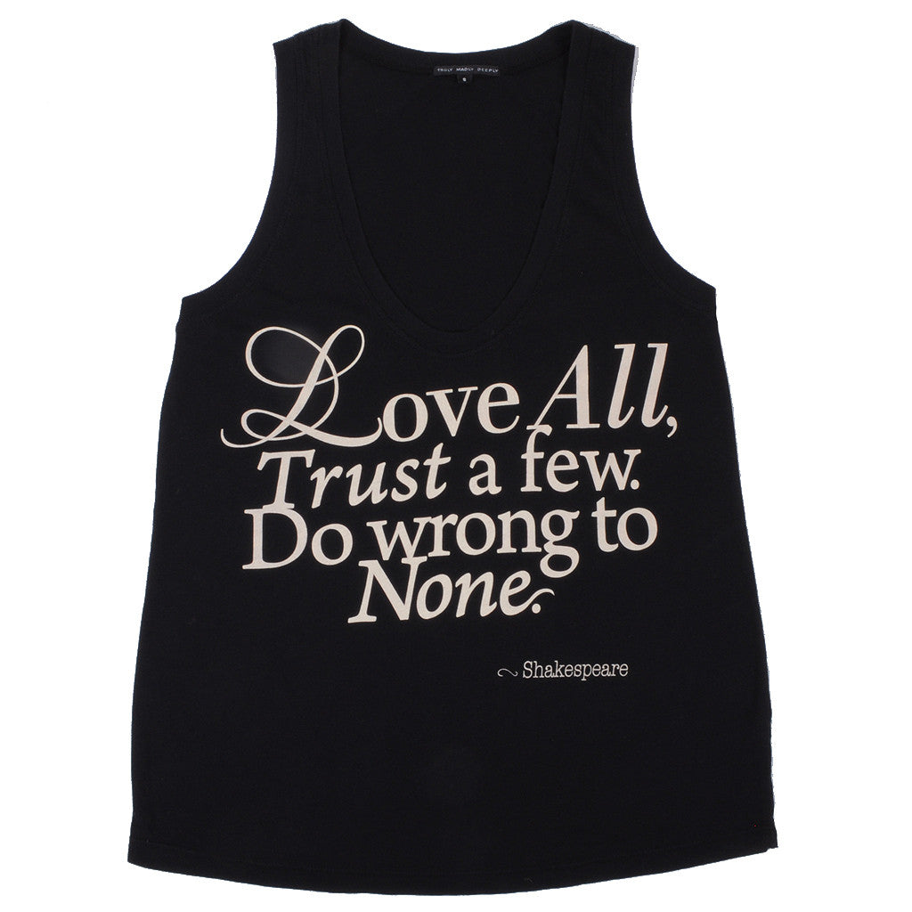 Trends -  Love All Women's Tank, Black - The Giant Peach