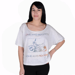 Mighty Fine - Love & Rockets Women's Shirt, Oatmeal Heather - The Giant Peach