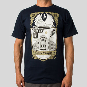 SuperFishal (Jeremy Fish) - Lower Haight Men's Shirt, Navy - The Giant Peach