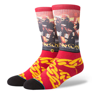 Stance x Raekwon - Cuban Linx Men's Socks, Burgundy