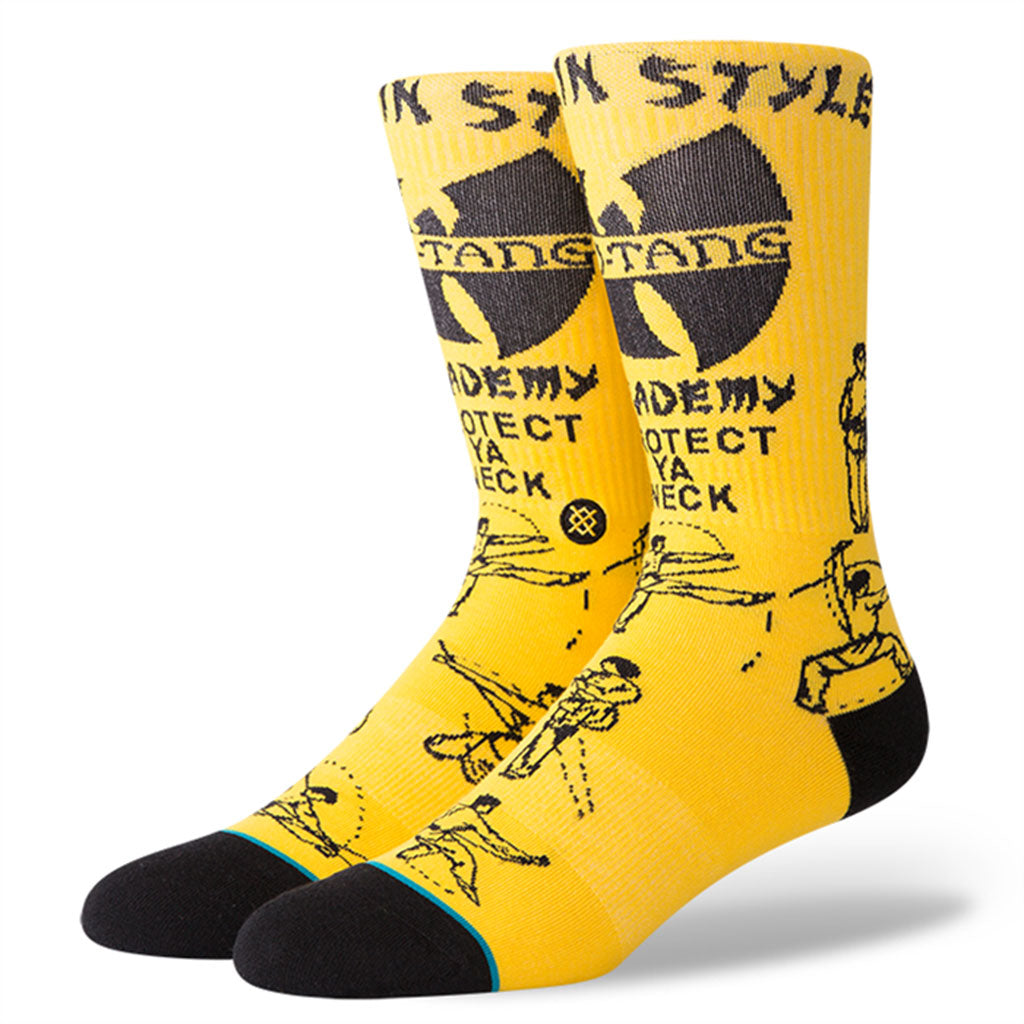 Stance x Wu-Tang Clan - Protect Ya Neck Men's Socks, Yellow