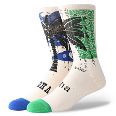 Stance x Mark Oblow Palm Men's Socks, Natural - The Giant Peach