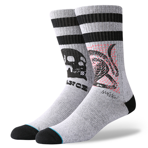 Stance x Mark Oblow Snake Men's Socks, Grey