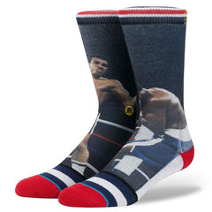 Stance x Muhammad Ali - Thrilla In Manila Men's Socks, Navy - The Giant Peach
