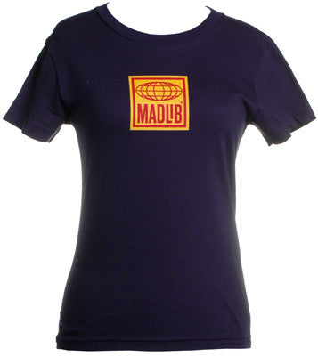 Madlib - Logo Women's Shirt, Navy - The Giant Peach