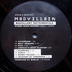 Madvillain - Madvillainy Instrumentals, 2xLP Vinyl - The Giant Peach