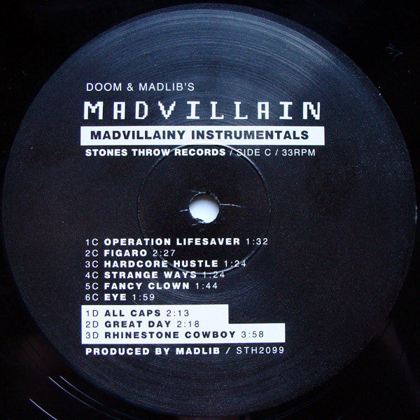 Madvillain - Madvillainy Instrumentals, 2xLP Vinyl - The Giant Peach - 3