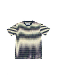 Akomplice VSOP-  Manchaster Men's Tee, Cream/Navy - The Giant Peach