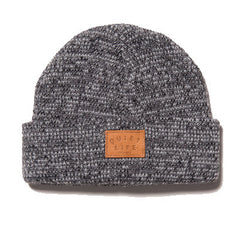 The Quiet Life - Marled Beanie, Grey - The Giant Peach