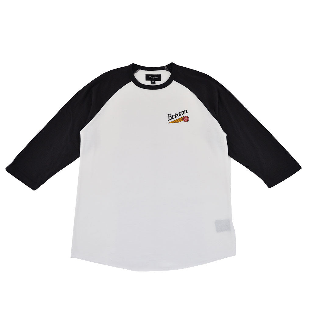 Brixton - Maverick Men's 3/4 Sleeve Tee, Off White