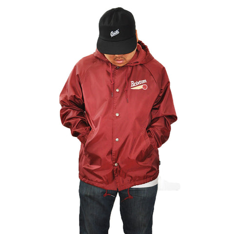 Brixton - Maverick Men's Windbreaker Jacket, Burgundy