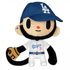 "tokidoki for MLB - Los Angeles Dodgers 8"" Plush Monkey Maxx - The Giant Peach - 1"