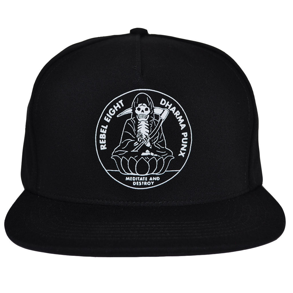REBEL8 - Meditate Snapback Hat, Black - The Giant Peach