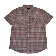 Brixton - Memphis Men's S/S Woven Shirt, Rust Plaid - The Giant Peach