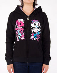 tokidoki - Mermicorno Buds Women's Hoodie, Black - The Giant Peach - 1