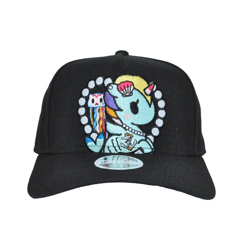 tokidoki - Mermicorno Heart Snapback Hat, Black - The Giant Peach