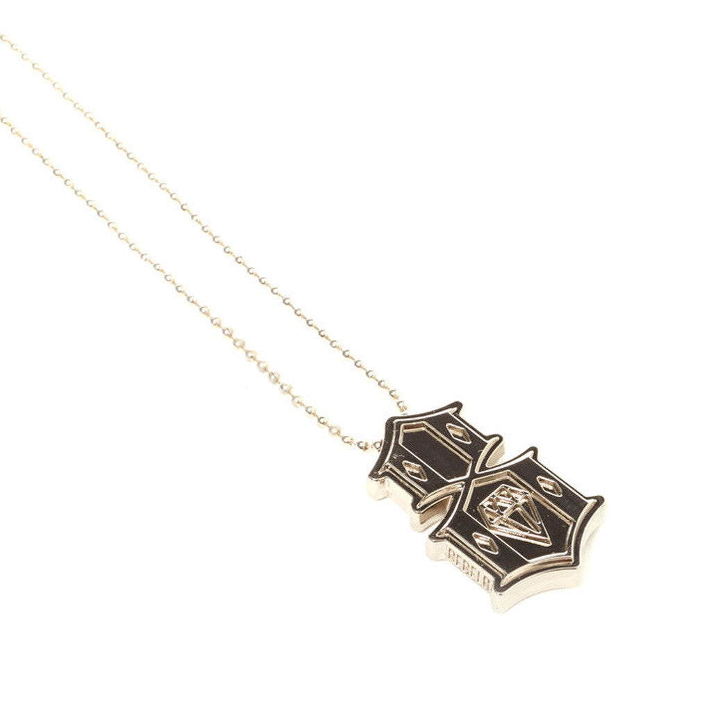 REBEL8 - Metal 8 Necklace, Silver - The Giant Peach