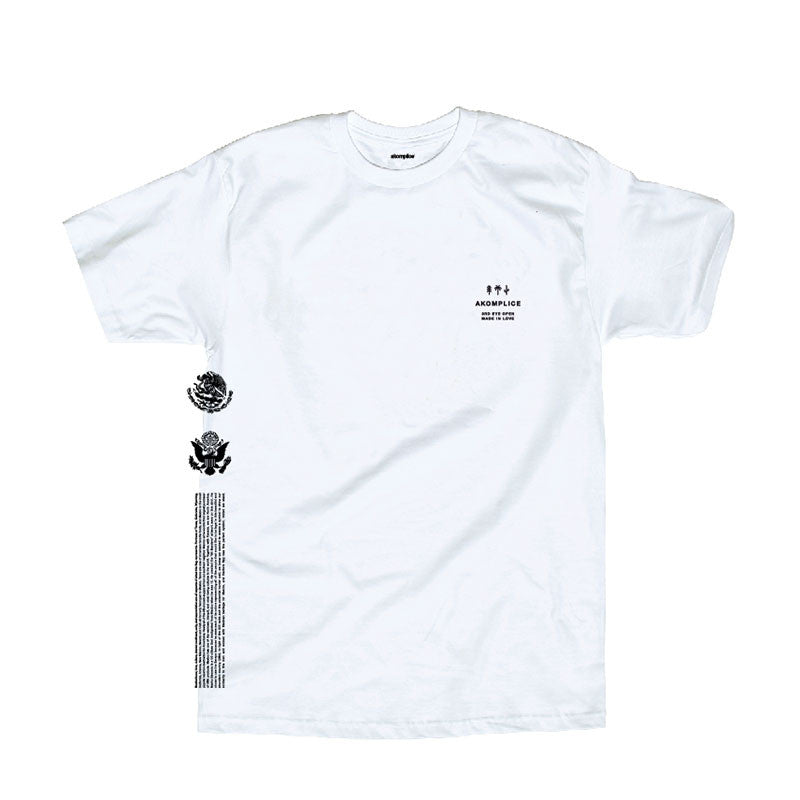 Akomplice x Nacho Becerra - Mi Bandera Men's Tee, White - The Giant Peach