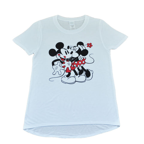 Mickey & Minnie Kisses Women's Tee, White