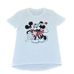 Mickey & Minnie Kisses Women's Tee, White - The Giant Peach