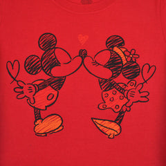 Mickey & Minnie The Smooch Women's Tee, Red - The Giant Peach