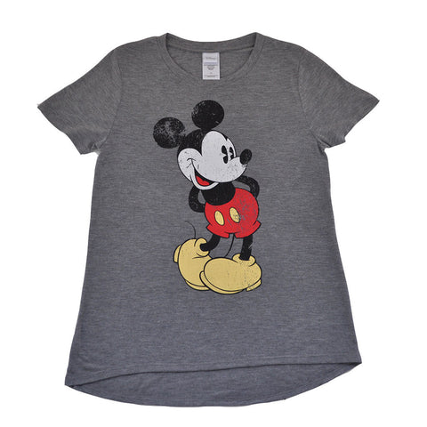 Mickey Women's Tee, Heather Grey
