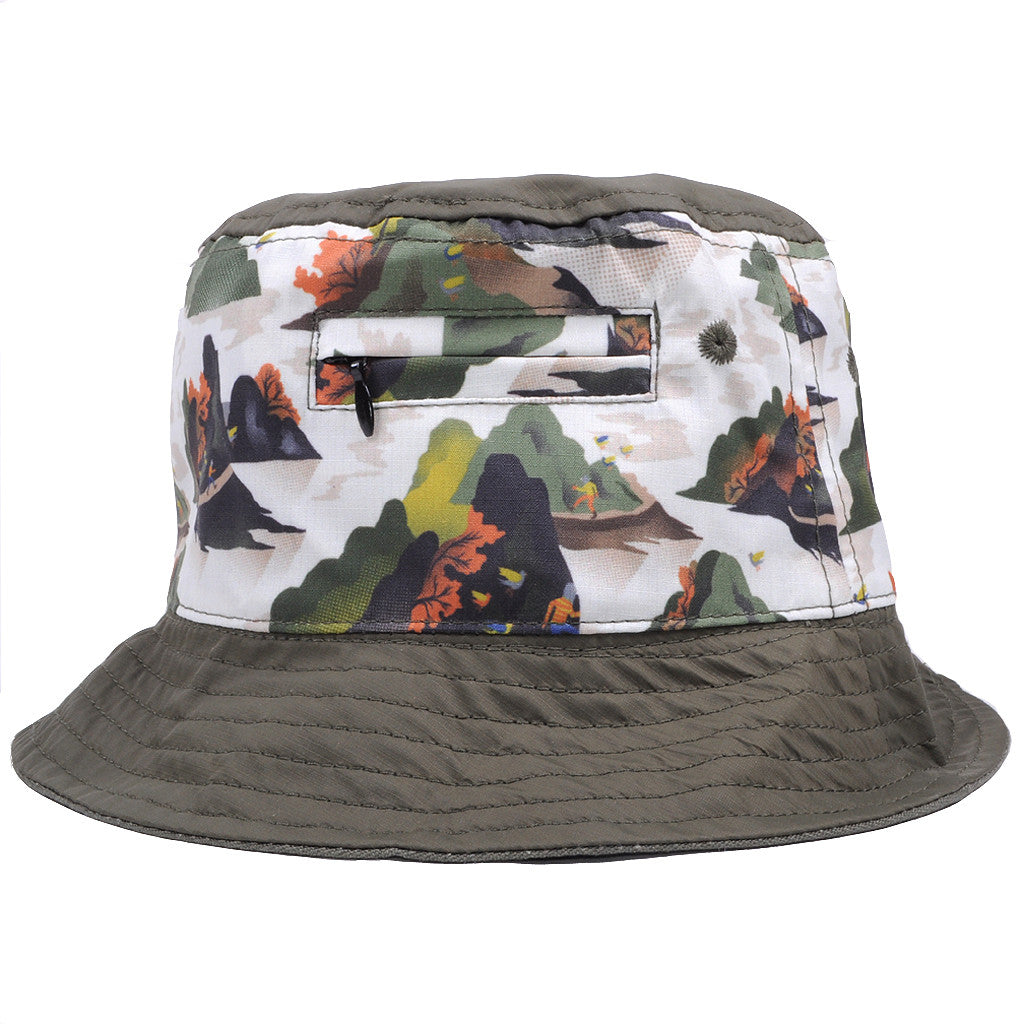 Staple - Militech Bucket Hat, Olive - The Giant Peach - 3