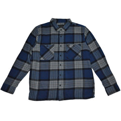 Brixton -Milton Men's Flannel L/S Shirt, Blue - The Giant Peach