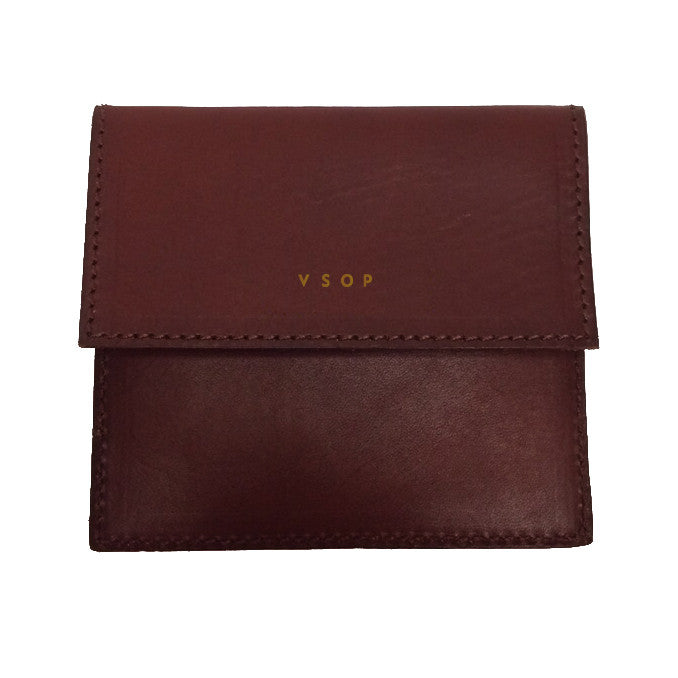Akomplice VSOP - Mono Fold Leather Wallet, Brown - The Giant Peach