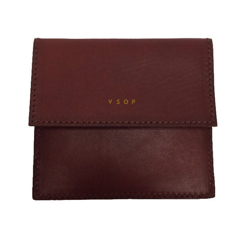 Akomplice VSOP - Mono Fold Leather Wallet, Brown - The Giant Peach - 1