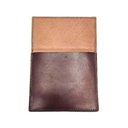 Akomplice VSOP - Mono Fold Leather Wallet, Brown - The Giant Peach - 2