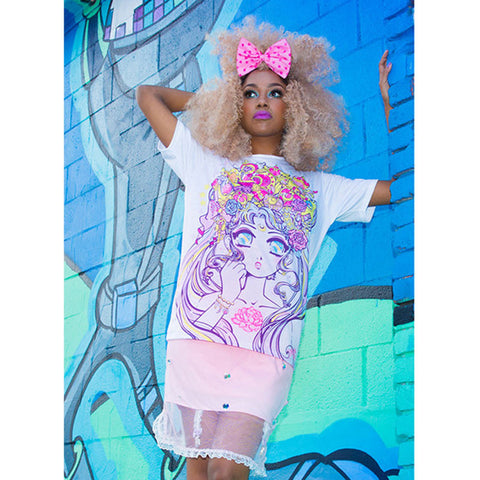 JapanLA x Miss Kika Moonlight Legend Unisex Tee - The Giant Peach - 1