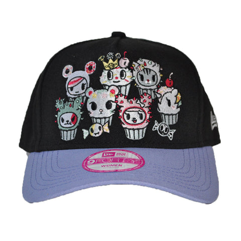 tokidoki - More Cupcakes Snapback Hat, Black - The Giant Peach