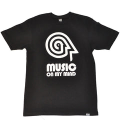 101 Apparel - Music On My Mind Men's Shirt, Black - The Giant Peach
