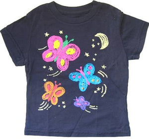 made U look - Nightflies Infant & Toddler Tee, Navy - The Giant Peach