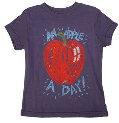 made U look - Apple Infant & Toddler Tee, Midnight - The Giant Peach