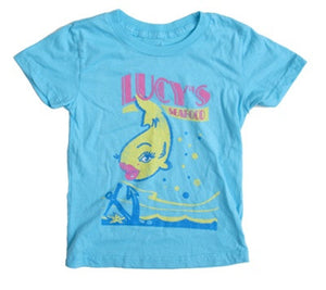 made U look - Lucy's Infant & Toddler Tee, Aqua - The Giant Peach