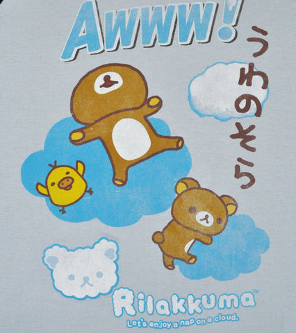 Rilakkuma Nap On Cloud Junior's Raglan, Blue/Black